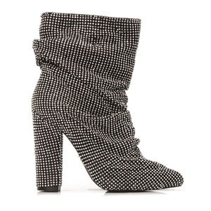 Rhinestone Scrunched Boots